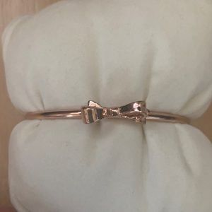 Kate Spade Rose gold bow bracelet
